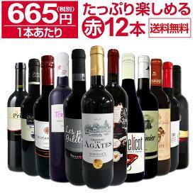 【送料無料】第10弾!1本あたり665円(税別)!!採算度外視の大感謝!厳選赤ワイン12本セットワイン ワインセット セット 赤ワインセット 赤ワイン 赤 飲み比べ ギフト プレゼント 750ml
