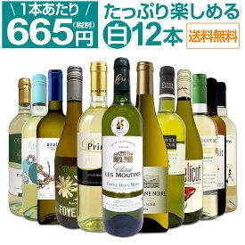 【送料無料】第8弾!1本あたり665円(税別)!!採算度外視の大感謝!厳選白ワイン12本セット