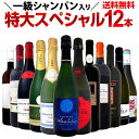 【送料無料】一級シャンパン&モンペラ&シャブリ入り!特大スペシャル!12本19,800円(税別)!ワイン ワインセット セット 赤ワインセット 赤ワイン 赤 白ワインセット 白ワイン 白 飲み比べ 送