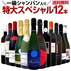 【送料無料】一級シャンパン&モンペラ&シャブリ入り!特大スペシャル!12本19,800円(税別)!ワイン ワインセット セット 赤ワインセット 赤ワイン 赤 白ワインセット 白ワイン 白 飲み比べ 送料無料 ギフト プレゼント 750ml