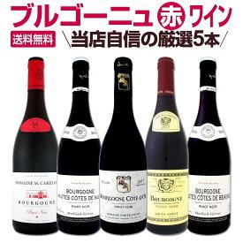 【送料無料】厳選ブルゴーニュ赤ワイン5本セット! ワイン ワインセット セット 赤ワインセット 赤ワイン 赤 飲み比べ ギフト プレゼント 750ml 父の日
