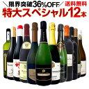 【送料無料】本格シャンパン&ブルゴーニュ入り!特大スペシャル12本セット! ワイン ワインセット セット 赤ワインセ…