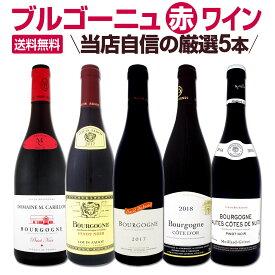 【送料無料】厳選ブルゴーニュ赤ワイン5本セット! 父の日