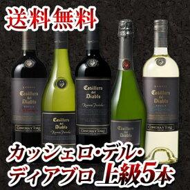 【送料無料】ワンランク上のカッシェロ・デル・ディアブロ5本セット!