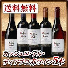 【送料無料】カッシェロ・デル・ディアブロ 赤ワイン5本セット!
