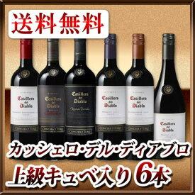 【送料無料】カッシェロ・デル・ディアブロ 上級キュベも入った赤ワイン6本セット!