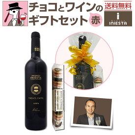 【送料無料】チョコとワインのギフトセット【赤B】