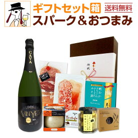 【送料無料】【クール便】スパークリングワインギフトセット(おつまみ6つ付き)