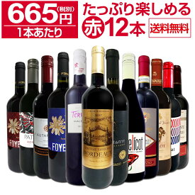 【送料無料】第13弾!1本あたり665円(税別)!!採算度外視の大感謝!厳選赤ワイン12本セットワイン ワインセット セット 赤ワインセット 赤ワイン 赤 飲み比べ ギフト プレゼント 750ml