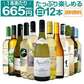 【送料無料】第17弾!1本あたり665円(税別)!!採算度外視の大感謝!厳選白ワイン12本セット