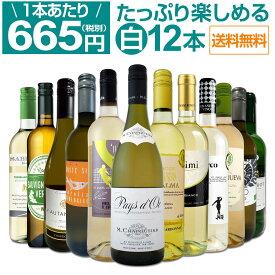【送料無料】第18弾!1本あたり665円(税別)!!採算度外視の大感謝!厳選白ワイン12本セット