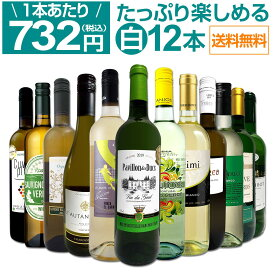 【送料無料】第22弾!1本あたり732円(税込)!!採算度外視の大感謝!厳選白ワイン12本セット