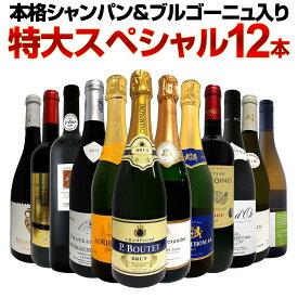 【送料無料】第11弾!本格シャンパン&ブルゴーニュ入り!特大スペシャル12本セット! ワイン ワインセット セット 赤ワインセット 赤ワイン 白ワインセット 白ワイン スパークリングワインセット 飲み比べ ギフト プレゼント 辛口 750ml
