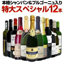 【送料無料】第15弾!本格シャンパン&ブルゴーニュ入り!特大スペシャル12本セット! ワイン ワインセット セット 赤ワインセット 赤ワイン 白ワインセット 白ワイン スパークリングワインセット 飲み比べ ギフト プレゼント 辛口 750ml