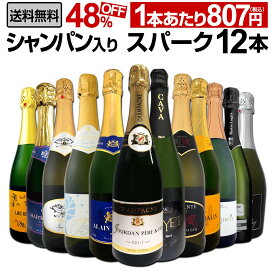 【送料無料】第15弾シャンパン入り!辛口スパークリングワイン12本セット!