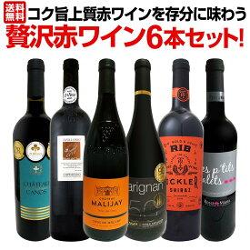 【送料無料】第1弾!当店≪極≫厳選!赤ワイン好きならこのセット!格別の美味しさ!コク旨上質赤ワインを存分に味わう贅沢赤ワイン6本セット!