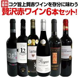 【送料無料】第3弾!当店≪極≫厳選!赤ワイン好きならこのセット!格別の美味しさ!コク旨上質赤ワインを存分に味わう贅沢赤ワイン6本セット!