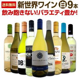 【送料無料】新世界白ワイン9本セット!毎日飲んでも飲み飽きないバラエティ豊かなセット!
