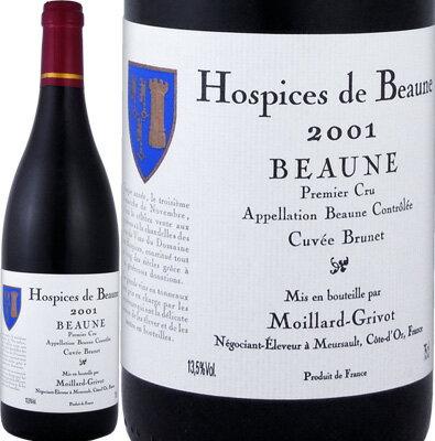 オスピス・ド・ボーヌ ボーヌ・プルミェ・クリュ・キュヴェ・ブリュネ 2001【フランス】【赤ワイン】【750ml】【ミディアムボディ寄りのフルボディ】【辛口】