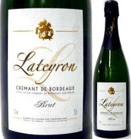 ラテイロン ラテイロン・クレマン・ド・ボルドー【フランス】【白スパークリングワイン】【750ml】【ミディアムボディ寄りのフルボディ】【やや辛口】