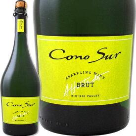 スパークリングワイン 辛口 コノスル・ブリュット NV【チリ】【白スパークリングワイン】【750ml】【辛口】【Cono Sur】
