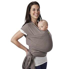 ボバラップベビーキャリア、独自の伸縮性の抱っこ紐、新生児と15kgまでの赤ちゃんに最適 (Grey)