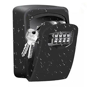 ZHEGE セキュリティ キーボックス ダイヤル式 鍵収納ボックス 大容量 壁掛け キーボックス 屋外 盗難防止