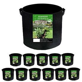 12個セット 5ガロン プランター 布鉢 栽培袋 フェルト 不織布ポット 植え袋 ガーデン 通気性 diy 園芸 植物育成 野菜栽培 大容量 JES