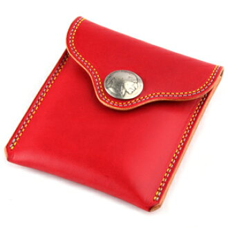 Portable ashtray hanging leather leather KC, s ケイシイズ: double stitch portable ashtray case