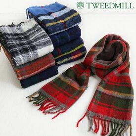 TWEED MILL ツイードミル タータンチェック フリース チェック マフラー ウール 暖かい 厚手 マフラー ゆったり ナチュラル 服 tweedmill6