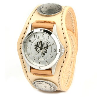 Watch mens leather leather KC, s ケイシイズ: resabreswatch 3 Concho FreeCast