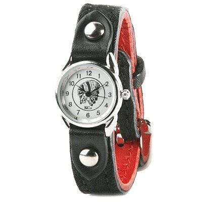 腕時計 レディース 革 レザー KC,s kcs ケーシーズ ケイシイズ : レザーブレスウォッチ バックル エレファントレディース【ブラック】
