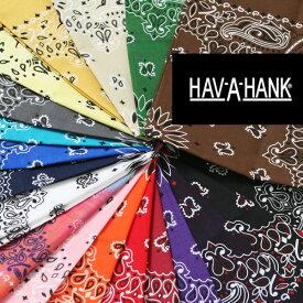 バンダナ ハバハンク ペイズリー柄 ハンカチ アメリカ製 havahank bandana Made in USA