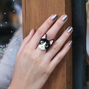 リング アニマル とっても キュート な キャット 猫 の指輪 モチーフ ジュエリー アクセサリー (GOOD AFTER NINE グッドアフターナイン)おしゃれ カワイイ キュート レディース 18k