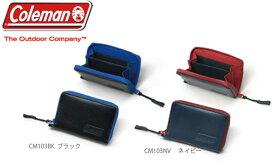 Coleman コールマン 財布 キャンプ コイン&カードケース 牛革(撥水加工)、止水ファスナー
