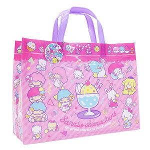 サンリオキャラクターズ ビーチバッグ マチアリ プールバッグ 角型 ビニールバッグ キッズ 女の子 サンリオ sanrio ピンク ゆめかわ