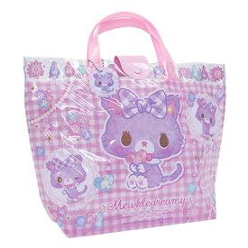 ミュークルドリーミー ビーチバッグ バケット プールバッグ バケットタイプ バケット型 ビニールバッグ キッズ 女の子 猫 ねこ サンリオ sanrio ピンク ゆめかわ