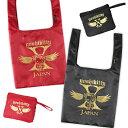 【メール便商品2個以上で送料無料!】yoshikitty エコバッグ 赤 黒バッグ 折りたたみバッグ 小物入れ 買い物袋 買い物…