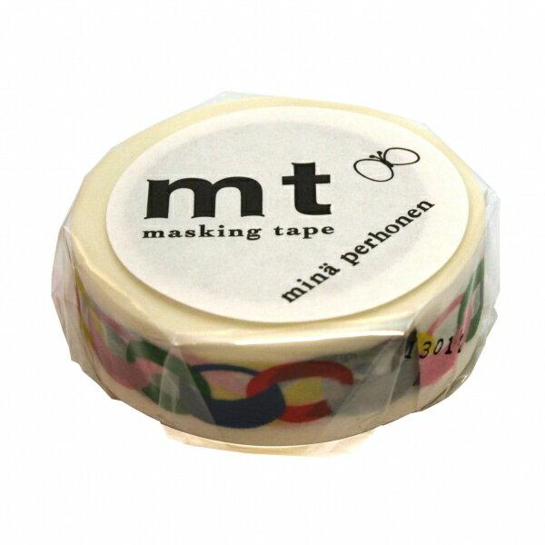 【カモ井(カモイ)】mt mina perhonen マスキングテープ 1P【リング・ビビッド】 MTMINA07 【あす楽対応】