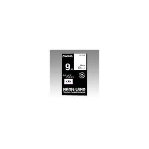 ネームランド用 テープカートリッジ スタンダードテープ【白ラベル 黒文字】 XR-9WE