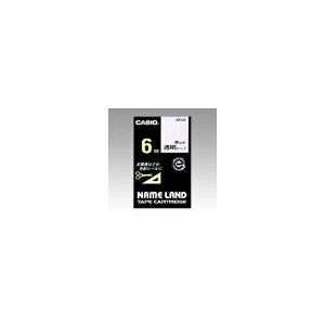 ネームランド用 テープカートリッジ スタンダードテープ【透明ラベル 黒文字】 XR-6X