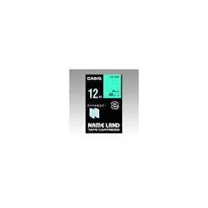 ネームランド用 テープカートリッジ スタンダードテープ【緑ラベル 黒文字】 XR-12GN