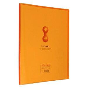 クリアーファイル ヒクタス±(透明)スティック・タイプA4判タテ型(20ポケット)【オレンジ】 7181T