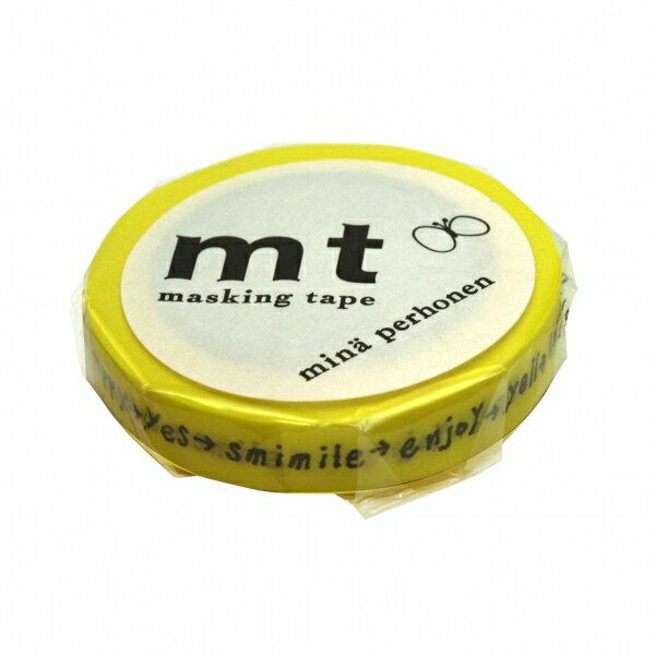【カモ井(カモイ)】mt mina perhonen マスキングテープ 1P【しりとり・イエロー】 MTMINA05 【あす楽対応】
