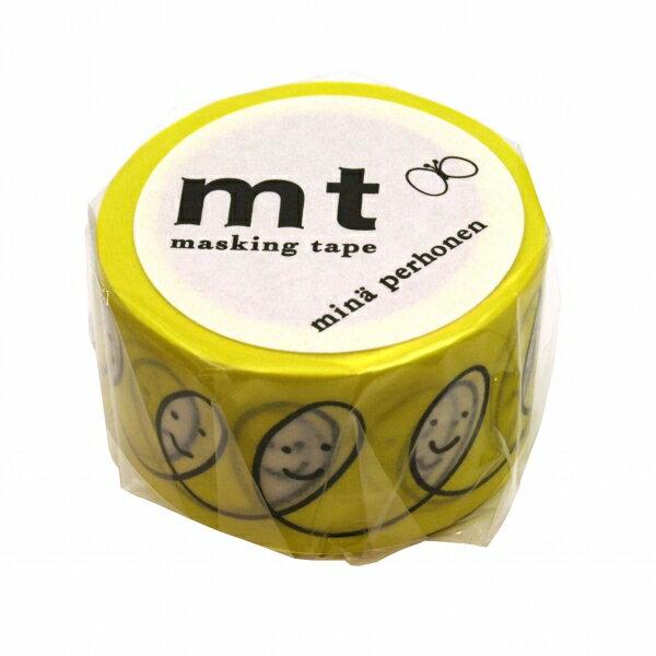 【カモ井(カモイ)】mt mina perhonen マスキングテープ 1P【スマイル・イエロー】 MTMINA09 【あす楽対応】