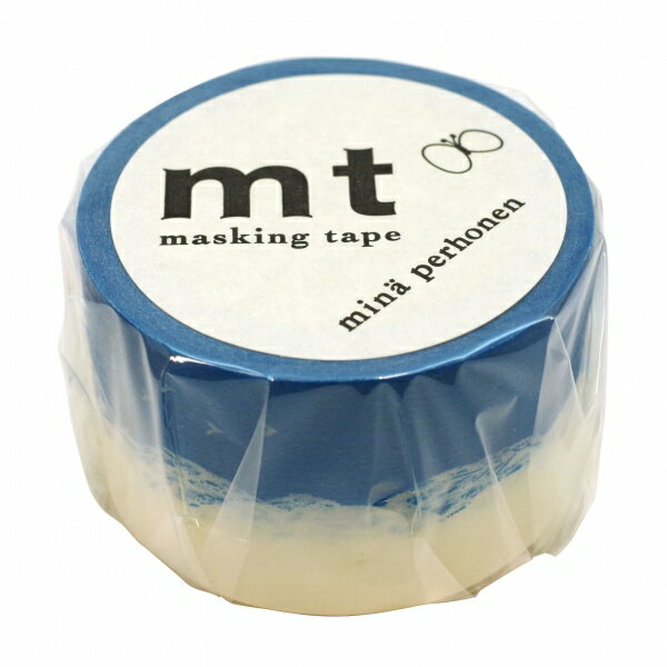 【カモ井(カモイ)】mt mina perhonen マスキングテープ 1P【トリップ・ブルー】 MTMINA17 【あす楽対応】