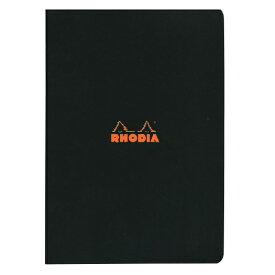 【Rhodia/ロディア】クラシック ホチキス留ノート(A4)横罫【ブラック】 cf119169 【あす楽対応】