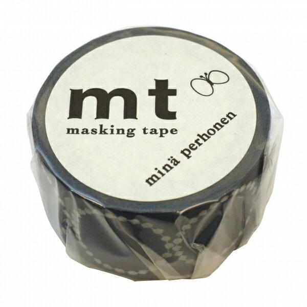 【カモ井(カモイ)】mt mina perhonenマスキングテープ 1P【tambourine petit・ネイビー】 MTMINA21 【あす楽対応】
