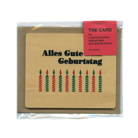 【DELFONICS/デルフォニックス】ウッドカードセット A【お誕生日おめでとう】ドイツ語 PT46 A 【あす楽対応】