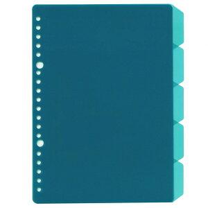 A5 20穴バインダー用インデックス5段【ライトブルー】 JHP01LB【あす楽対応】